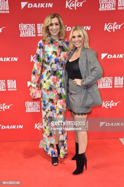 Verena Kerth and Alessandra Geissel attend the BILD Muenchen Newspaper 50th anniversary party at MTTC IPHITOS on May 3 2018 in Munich Germany