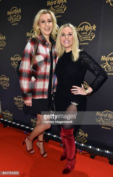 Verena Kerth and Alessandra Geissel during the 15th anniversary celebration of the Hard Rock Cafe Munich on February 23 2017 in Munich Germany