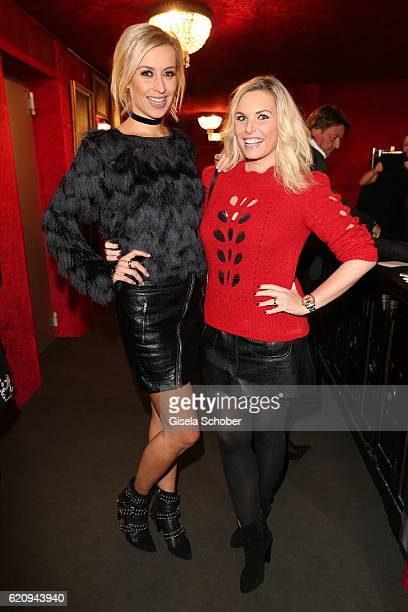 Verena Kerth and Alessandra Geissel during the VIP premiere of Schubeck's Teatro at Spiegelzelt on November 3 2016 in Munich Germany