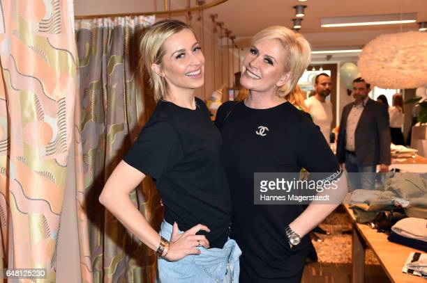 Verena Kerth and Claudia Effenberg during 'Marcell von Berlin Store Opening' on March 4 2017 in Munich Germany