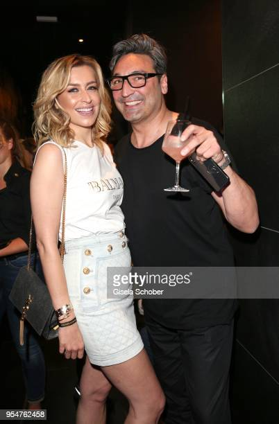 Verena Kerth and DJ Mouse during the Grand Opening of Roomers Spa by Shan Rahimkhan on May 4, 2018 in Munich, Germany.