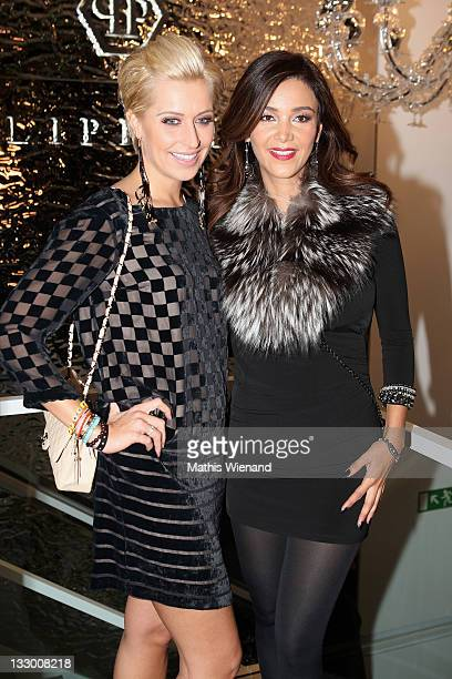 Verena Kerth and Verona Poth attend the Grand Store Opening 'Philipp Plein' on November 15 2011 in Duesseldorf Germany