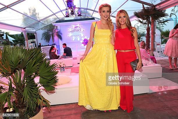 Verena Kerth and Viviane Geppert during the Raffaello Summer Day 2016 to celebrate the 26th anniversary of Raffaello on June 24 2016 in Berlin Germany