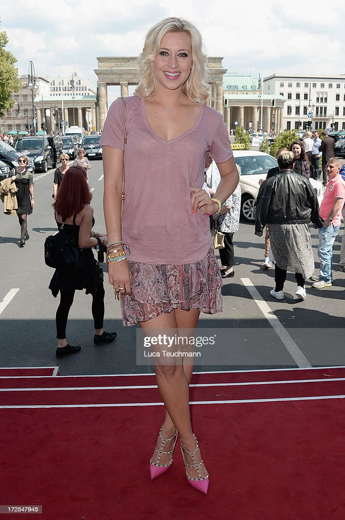 Verena Kerth attends the Dimitri show during the Mercedes-Benz Fashion Week Spring/Summer 2014 at Brandenburg Gate on July 3, 2013 in Berlin, Germany.