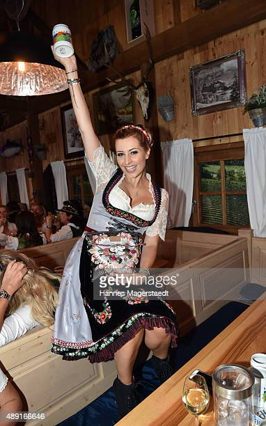 Verena Kerth attends the Fisch Baeda during the Oktoberfest 2015 Opening at Theresienwiese on September 19 2015 in Munich Germany