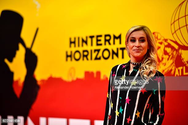 Verena Kerth attends the red carpet at the Hinterm Horizont Musical premiere at Stage Operretenhaus on November 10 2016 in Hamburg Germany