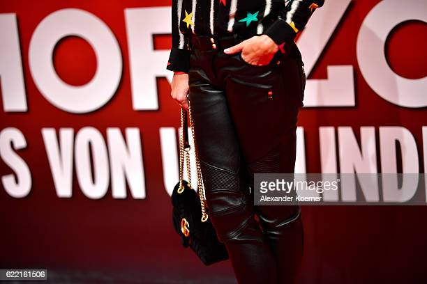 Verena Kerth fashion detail attends the red carpet at the Hinterm Horizont Musical premiere at Stage Operretenhaus on November 10 2016 in Hamburg...
