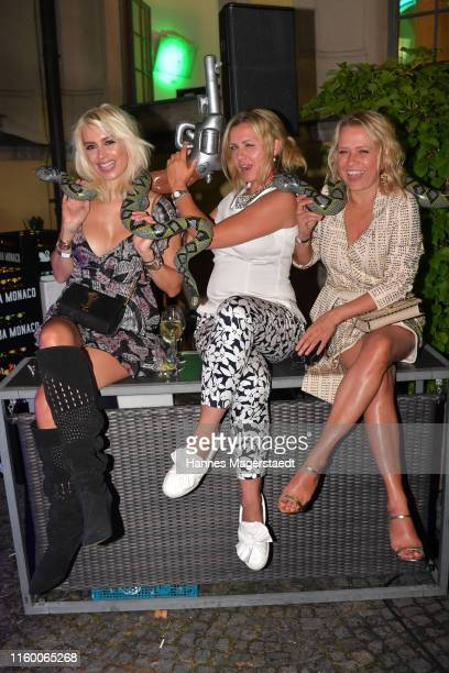 Verena Kerth Jessica Boehrs and Nova Meierhenrich attend the 20 years anniversary of the 13th Street Shocking Short 2019 event at Muellersches...