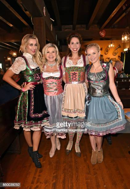 Verena Kerth Marianne Hartl Lola Paltinger and Barbara Sturm attend the Charity Lunch at 'Zur Bratwurst' during the Oktoberfest 2017 on September 20...