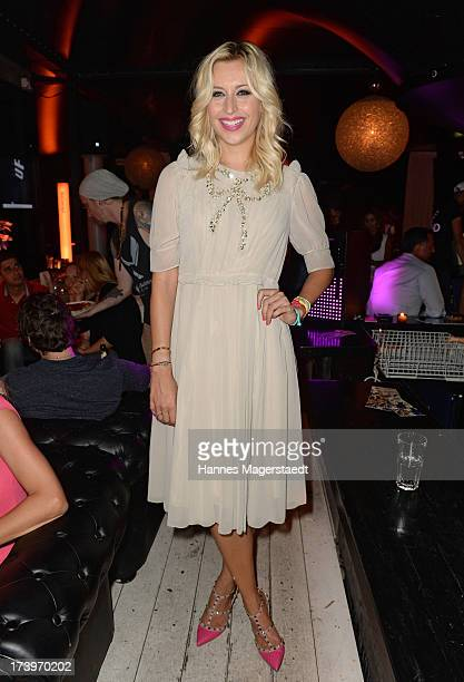 Verena Kerth poses during the Verena Kerth birthday party at P1 on July 18 2013 in Munich Germany Kerth also celebrated the release of the new...