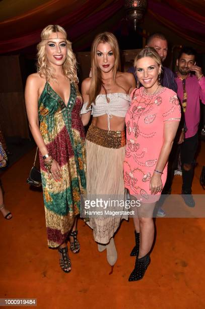 Verena Kerth Tanja La Croix and Alessandra Geissel during 'Temple of Sun' the P1 summer party at P1 on July 17 2018 in Munich Germany