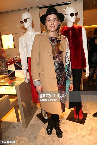 Verena Ofarim wife of Gil Ofarim during the Fendi christmas party on December 10 2015 in Munich Germany
