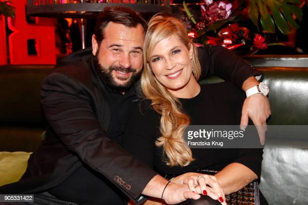 Verena Wriedt and her husband Thomas Schubert during the Bunte New Faces Night at Grace Hotel Zoo on January 15 2018 in Berlin Germany