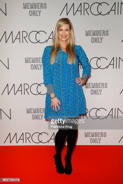 Verena Wriedt during the Marc Cain Fashion Show Berlin Autumn/Winter 2018 at metro station Potsdamer Platz on January 16 2018 in Berlin Germany