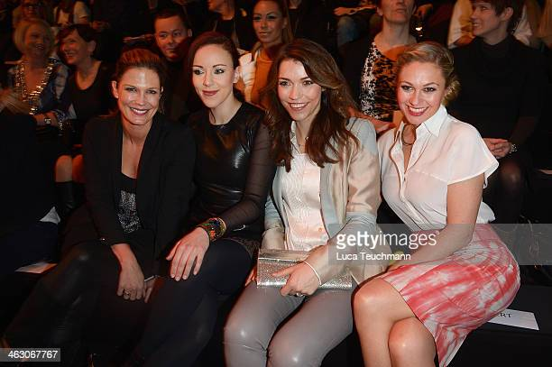 Verena Wriedt Jasmin Wagner Annett Moeller and Ruth Moschner attend the Glaw show during MercedesBenz Fashion Week Autumn/Winter 2014/15 at...