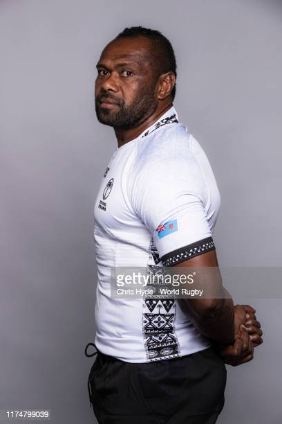 Vereniki Goneva of Fiji poses for a portrait during the Fiji Rugby World Cup 2019 squad photo call on September 14, 2019 in Abashiri, Hokkaido, Japan.