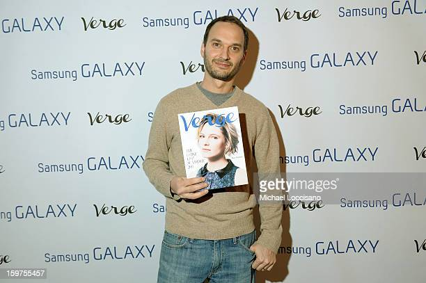 Verge founder and creative director Jeff Vespa attends The Verge List Party at the Samsung Galaxy Lounge at Village At The Lift 2013 on January 19...