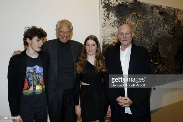 Vergil Kiefer Dominique de Villepin Elektra Kiefer and Anselm Kiefer attend the 'Fur Andrea Emo' Anselm Kiefer's Exhibition at Thaddeus Ropac Gallery...