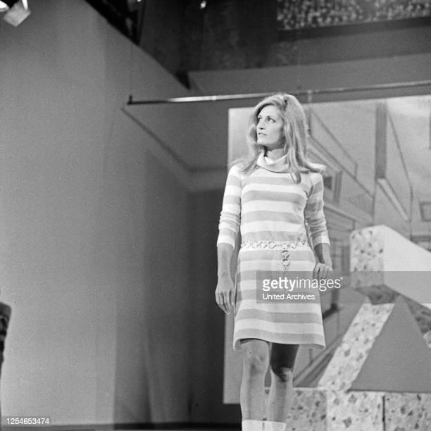 Vergißmeinnicht, Fernsehshow, Deutschland 1966, Gaststar: die französische Sängerin Dalida.