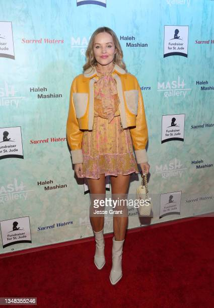 Verina Marcel attends the Sacred Waters by Haleh Mashian Red Carpet Opening. Supporting St Jude Children's Hospital at Mash Gallery on October 23,...