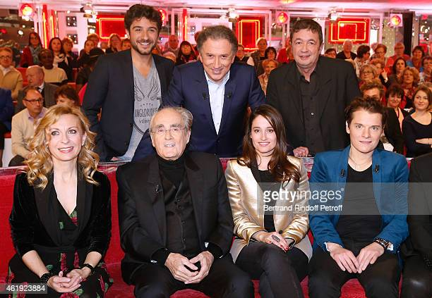 Verino Michel Drucker Fred Bouraly Natalie Dessay Michel Legrand Marie Gillain and Main Guest of the show Singer Benabar attend the 'Vivement...