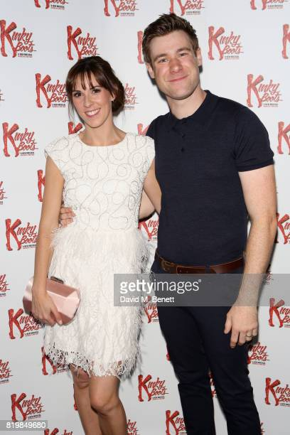 Verity Rushworth playing Lauren and David Hunter playing Charlie Price attend this summer's hottest musical Kinky Boots at the Adelphi Theatre...