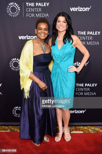 Verizon Foundation President Rose Kirk and The Paley Center for Media President and CEO Maureen Reidy attend the The Paley Honors Celebrating Women...