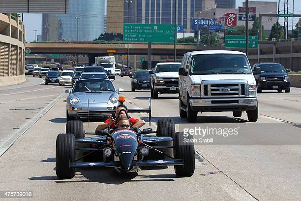 Verizon IndyCar Series driver Ed Carpenter wheels 2seater INDYCAR through streets of Dallas and Fort Worth with Jeff Cavanaugh of GBAG Nation and...