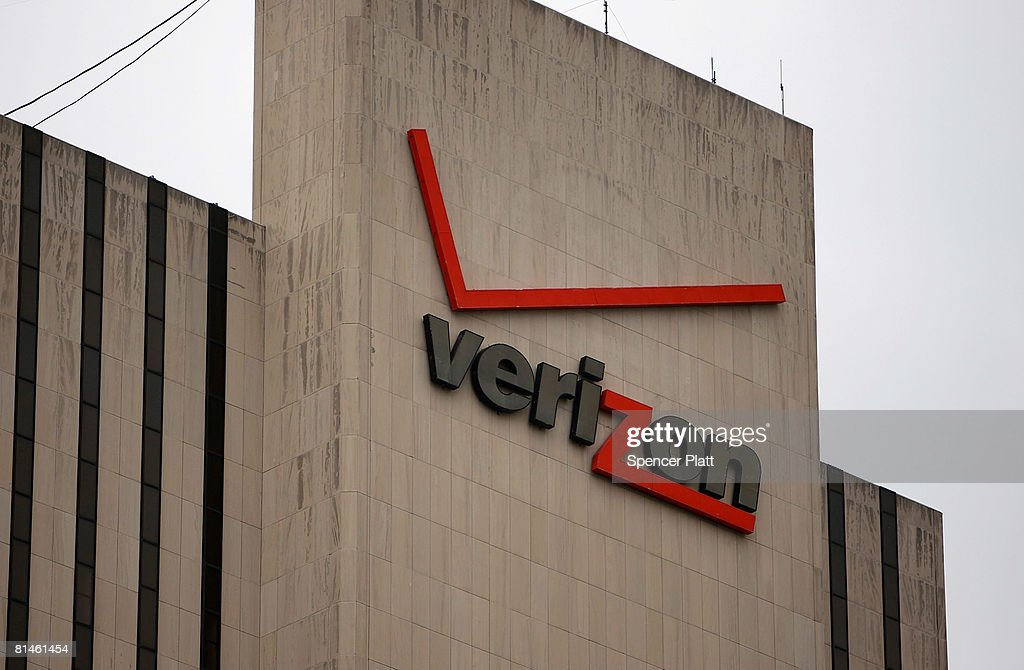 A Verizon logo is displayed on a building June 5, 2008 in New York City. Verizon Wireless has confirmed its acquisition of rural mobile service provider Alltel for $28.1 billion, a deal which will push Verizon into number one spot in the US market.