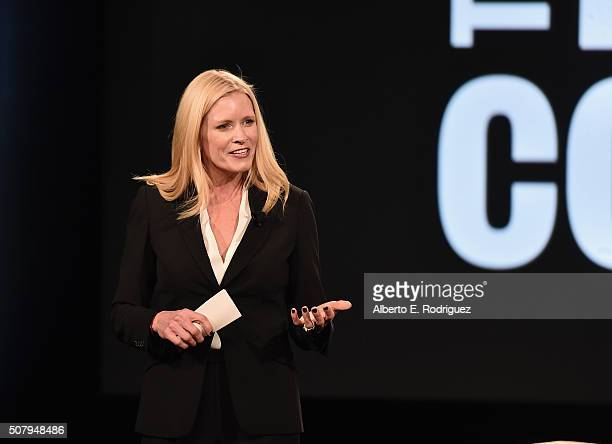 Verizon Vice President and President of Production Innovation and New Business Marni Walden speaks at the 2016 AOL MAKERS Conference at Terranea...