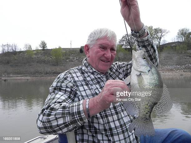 Verl Stevens of Manhattan pulled in one of the big crappies that have given Tuttle Creek Reservoir plenty of notice this spring