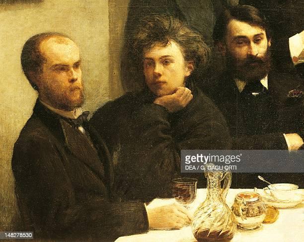 Verlaine Rimbaud and Bonnier detail from Corner of a table by Henri FantinLatour Paris Musée D'Orsay