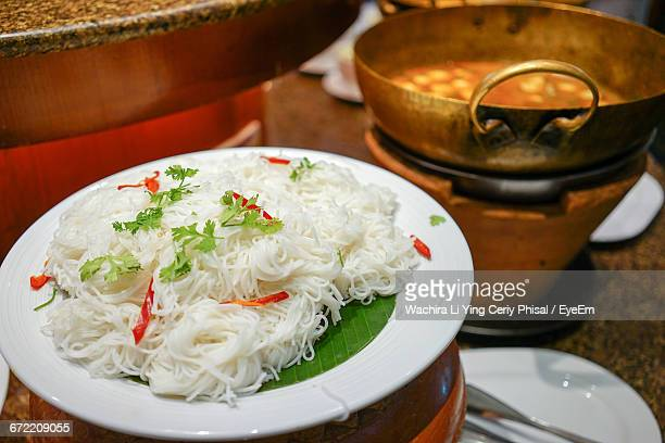 Vermicelli In Plate Over Container