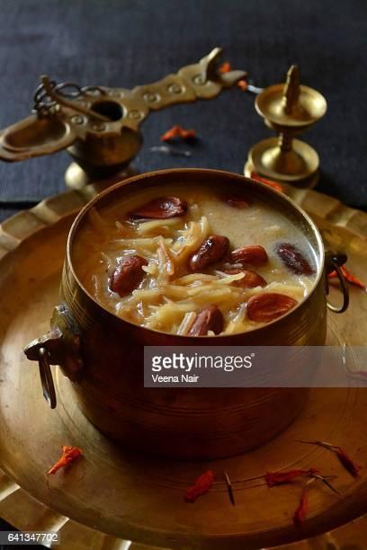 Vermicelli pudding/vermicelli kheer/Semiya payasam  in a brass utensil