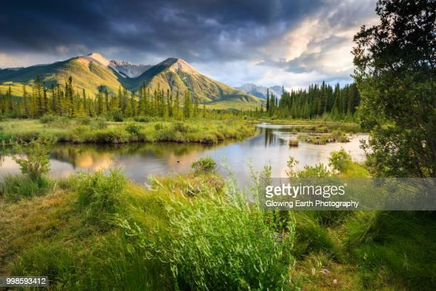 vermilion lakes, banff - paisajes de canada fotografías e imágenes de stock