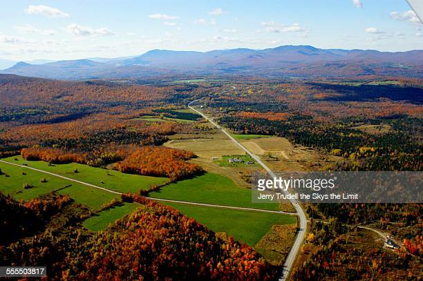 vermont aerial landscape - burlington vermont stock photos and pictures