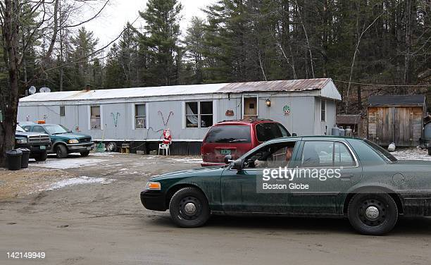 Vermont State Police cruiser parked in front of the home of Allen Prue and his wife Patricia Prue at 91 Old County Road in Waterford Vt Police...