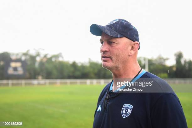 Vern Cotter coach of Montpellier during the first training session of the new season 2018/2019 of the Montpellier Herault rugby on July 16 2018 in...