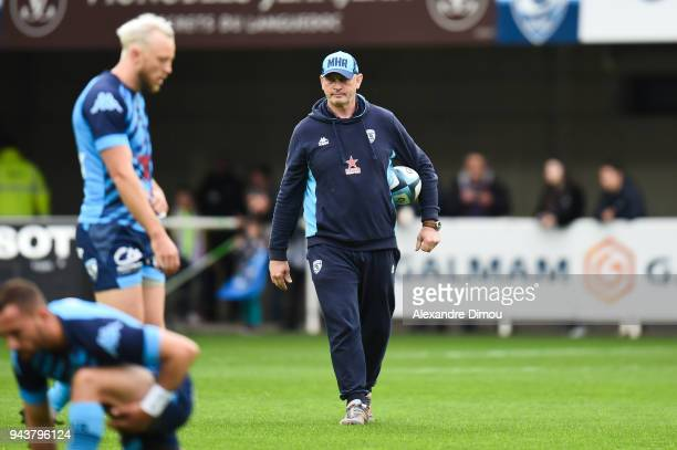 Vern Cotter head coach of Montpellier during the French Top 14 match between Montpellier and La Rochelle at Altrad Stadium on April 8 2018 in...