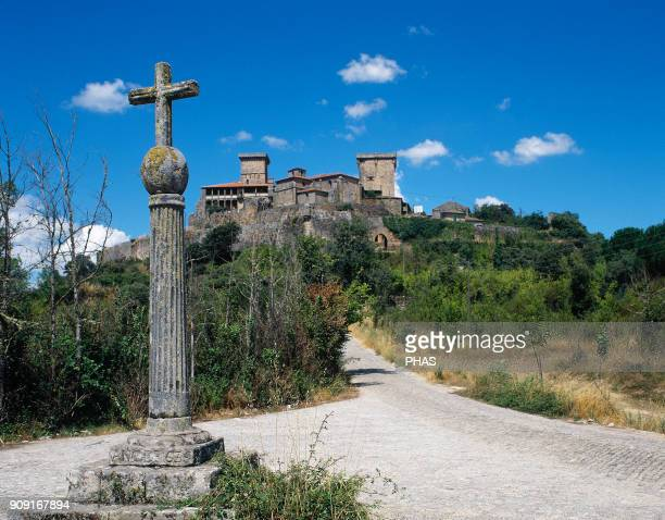 Verín province of Orense Galicia Spain Castle of Monterrei Fortress surrounded by a triple wall During the Middle Ages it was strategic due to its...