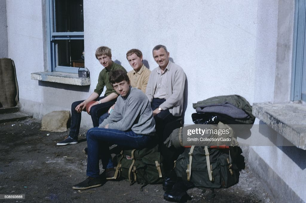 Vernacular snapshot photograph of family with luggage on a road trip, 1966. (Photo by Smith Collection/Gado/Getty Images).
