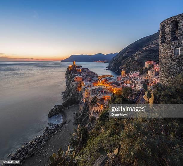 Vernazza at dawn,Cinque Terre National Park, Ligurian Riviera, Italy