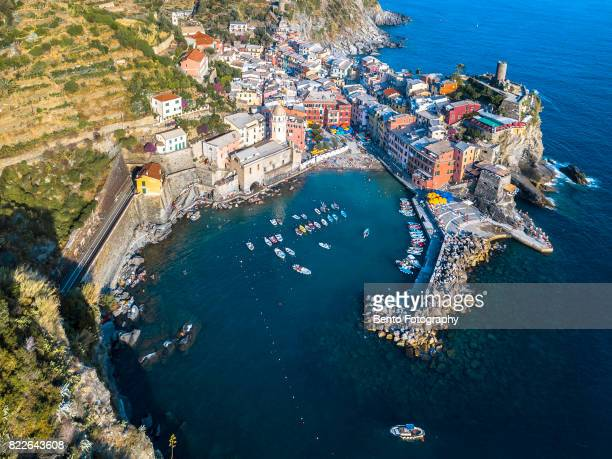 Vernazza, Cinque Terre, Italy, Europe by drone