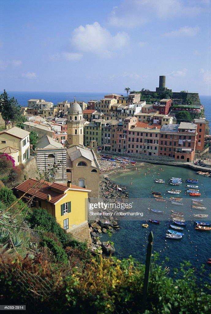 Vernazza, Cinque Terre, UNESCO World Heritage Site, Italian Riviera, Liguria, Italy, Europe : Stockfoto