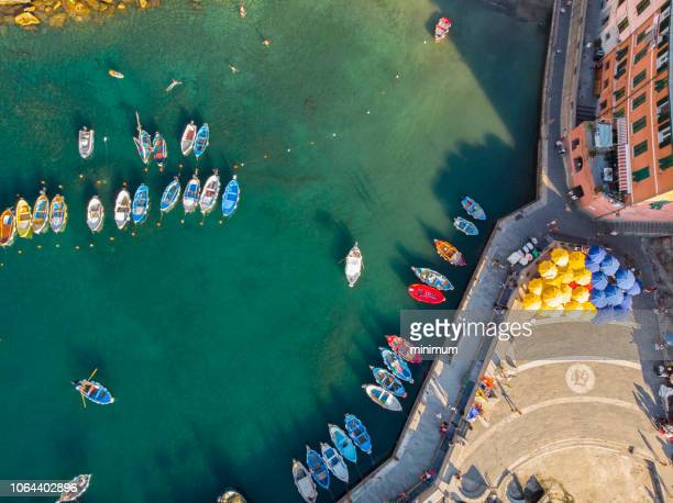 vernazza in the cinque terre italy - liguria stock photos and pictures
