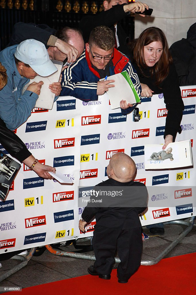 Verne Troyer attends the Pride Of Britain Awards at Grosvenor House, on October 5, 2009 in London, England.