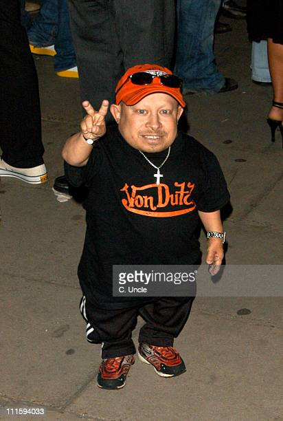Verne Troyer during Gizmondo Launch Party Arrivals at Sheraton Park Lane Hotel in London Great Britain