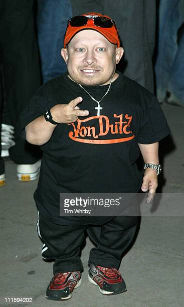 Verne Troyer during Gizmondo MultiMedia Handheld Launch Party Arrivals at Park Lane Hotel in London United Kingdom