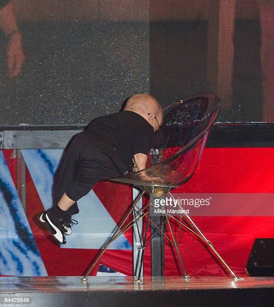 Verne Troyer is evicted from the Big Brother House, part of this years Celebrity Big Brother Final at Elstree Studios on the 23rd January 2009 in...