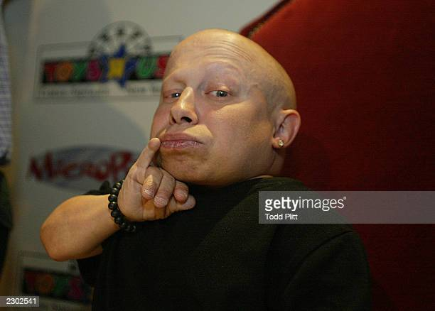 Verne Troyer star of the Austin Powers movies appears at New York Cities Toys R Us in Times Square to promote the worldwide launch of Tomy's...